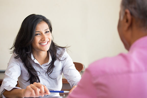 behavioral interviewing techniques being demonstrated