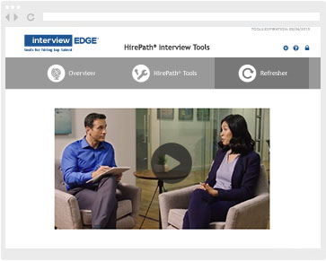 Online interview tools include on-demand video library