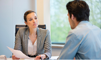 Behavioral interviewing conducted by hiring manager