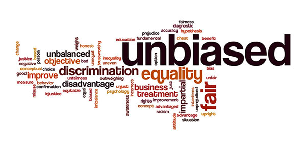 unconscious bias in interviewing word cloud