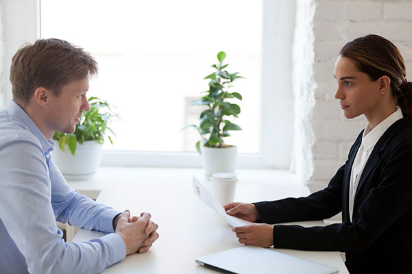 stressful interview situation that does not predict success